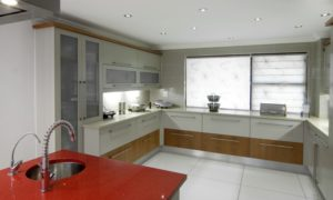Sandhurst Kitchen red marble top